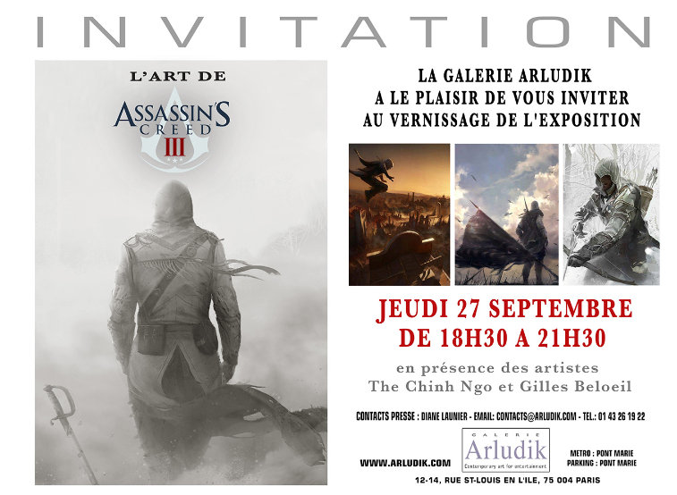 assassin-creed-exposition, artludik, ubisoft, assassin-creed-3, assassin-creed-III,