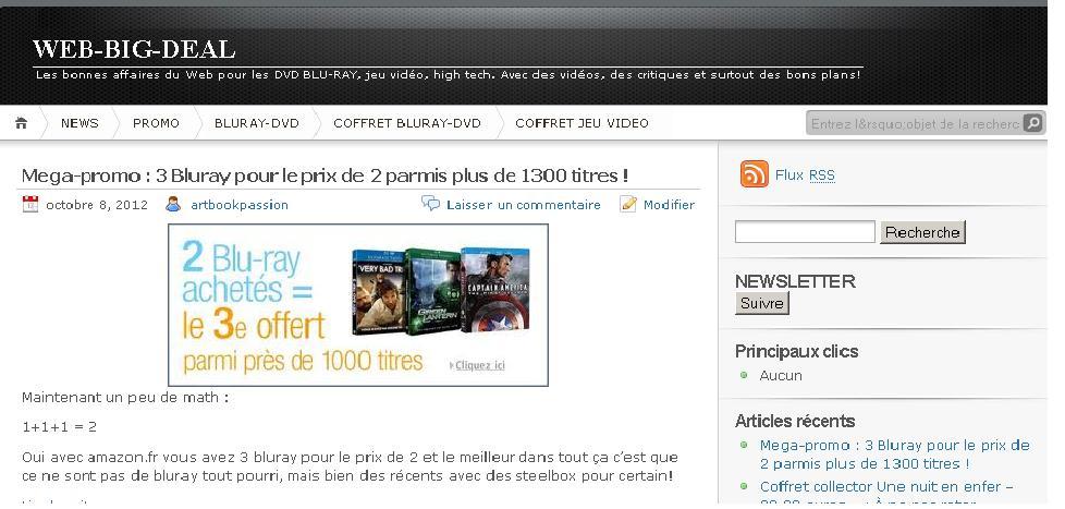 Cration de mon nouveau site web big deal tous les bons for Les bons plans du web